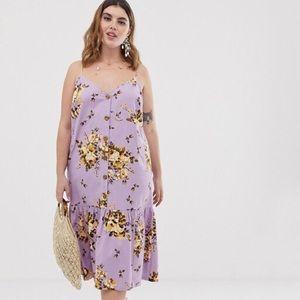 {ASOS} Curve NWT Floral Print Sundress